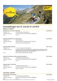 Veranstaltungskalender Juni-juli 2013 - Flims