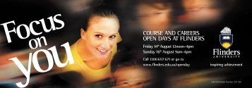 course and careers open days at flinders - Flinders University