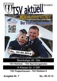 TSV aktuell Nr. 7 2013/14
