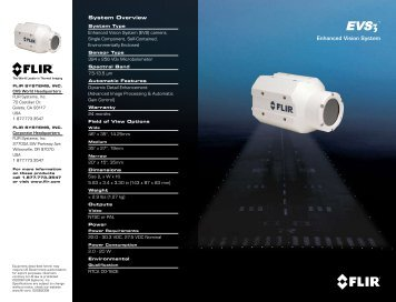 Enhanced Vision System - Flir Systems