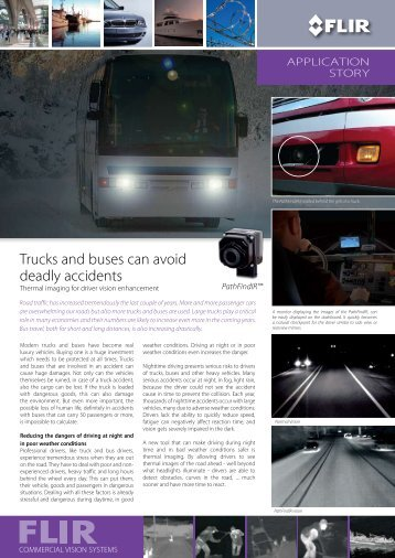 Trucks and buses can avoid deadly accidents - Flir Systems