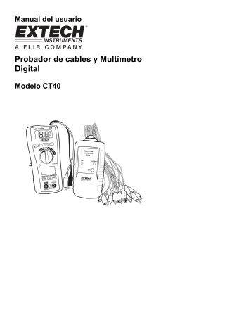 Probador de cables y Multímetro Digital