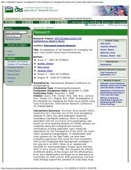 Publication request: Investigations of the feasibility for managing the ...
