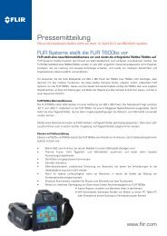 Pressemitteilung herunterladen - Flir Systems