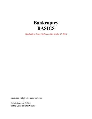 Bankruptcy Basics - U.S. Courts