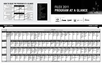 FiLEx 2011 PROGRAM AT A GLANCE - Australian Fitness Network