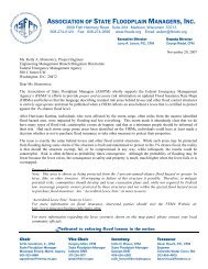 ASFPM Letter to FEMA in Support of Levee Risk Notification