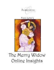 The Merry Widow Online Insights - Florentine Opera