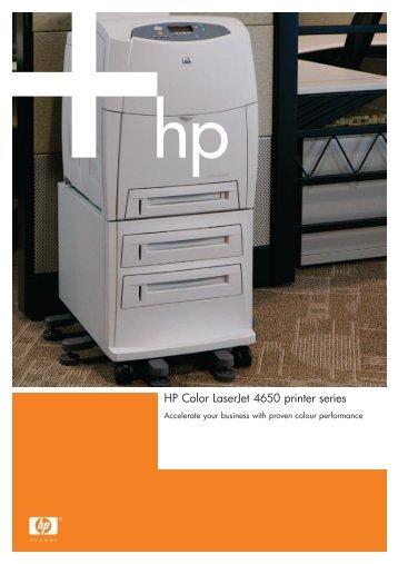 HP Color LaserJet 4650 printer series - Flora Limited