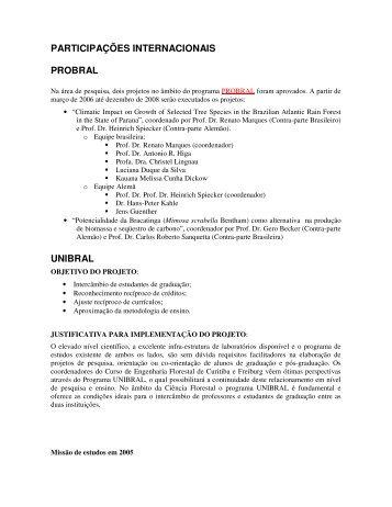 internacionalização - departamento de engenharia florestal - ufpr ...