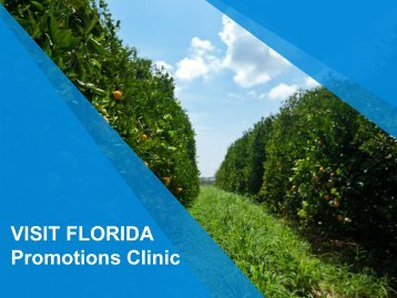 VISIT FLORIDA Promotions Clinic - Florida Attractions Association