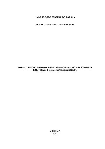 Tese em PDF - departamento de engenharia florestal - ufpr ...