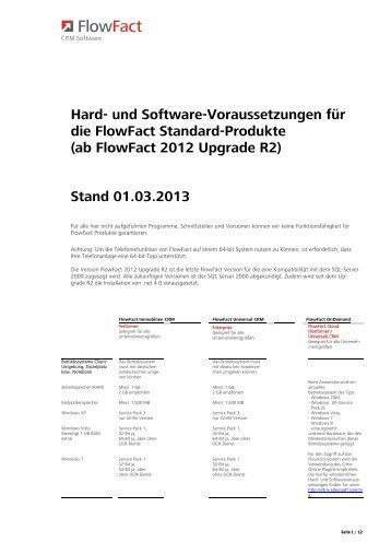 Stand 01.03.2013 - FlowFact AG