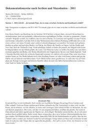 Dokumentation zu Serbien und Mazedonien von Marine de Haas ...