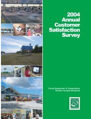 2004 Annual Customer Satisfaction Survey - Florida's Turnpike