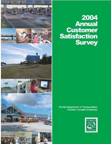 2004 Annual Customer Satisfaction Survey - Florida's Turnpike