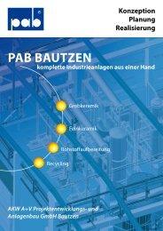Pab bautzen - AKW A+V Projektentwicklungs- und Anlagenbau ...