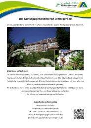 Die Kultur - Jugendherberge Wernigerode - DJH Sachsen-Anhalt