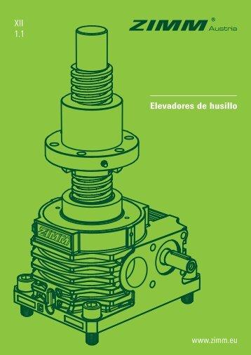 Elevadores de husillo ZIMM   Catálogo XII 1.1 - ES
