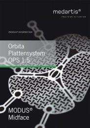 OPS 1.5 Orbita Plattensystem - PRODUKTINFORMATION ... - Medartis