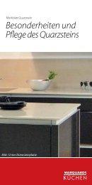 Besonderheiten und Pflege des Quarzsteins - Marquardt Küchen