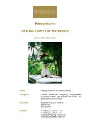 PRESSEMAPPE HEALING HOTELS OF THE WORLD