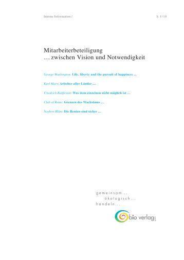 Mitarbeiterbeteiligung … zwischen Vision und ... - Bio Verlag GmbH