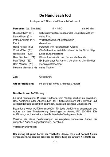 C1240 De Hund esch tod - Breuninger