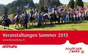 Eventkalender Sommer 2013 - Flumserberg