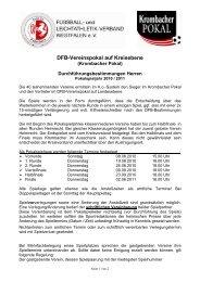Krombacher Pokal Durchführungsbestimmungen 2010/2011 Herren