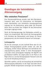 Grundlagen der betrieblichen Altersversorgung - Buchhandel.de