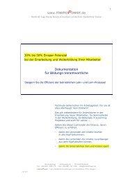 Dokumentation, Teil 1 (PDF) - MemoPower