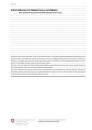 Informationen für Mieterinnen und Mieter - Was die ... - bei bresga