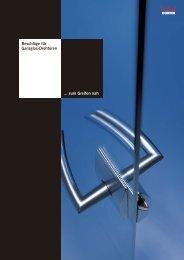 DORMA Drehtüren - Glasmanufaktur Baden AG