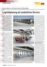 Logistikplanung als zusätzlicher Service - FM