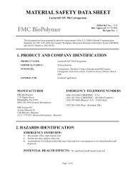 Lactarin® MV 306 Carrageenan - FMC Corporation