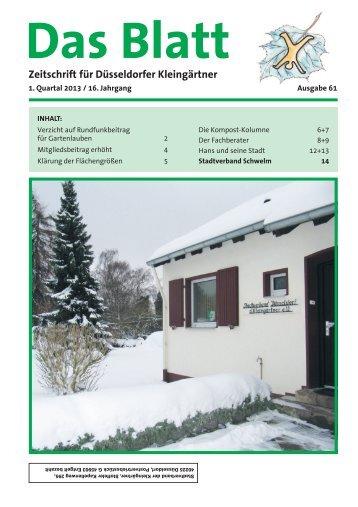2013-01 - Verein der Gartenfreunde eV Schwelm