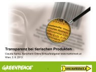 Claudia SPRINZ (marktcheck.at, Greenpeace, A) (pdf) - AGES