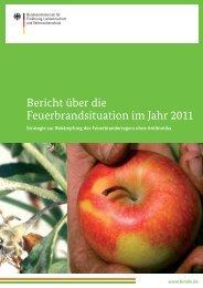 Bericht über die Feuerbrandsituation im Jahr 2011 in D, A, CH - AGES