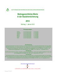 Beitragsrechtliche Werte in der Sozialversicherung 2012 - BVA