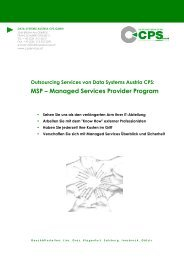 Managed Services (pdf) - CPS-IT GmbH