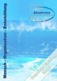 2007 Seminarkatalog - Akademie für Gesundheit und Bildung