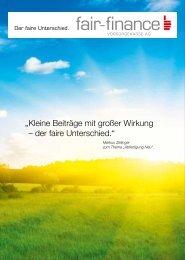 """"""" Kleine Beiträge mit großer Wirkung – der faire ... - Fair Finance"""