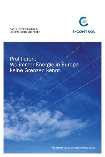 Profitieren. Wo immer Energie in Europa keine ... - im E-Werk Wels