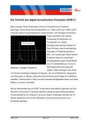 Die Technik des digital terrestrischen Fernsehen (DVB-T)