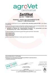 Zertifikat - Holzmann