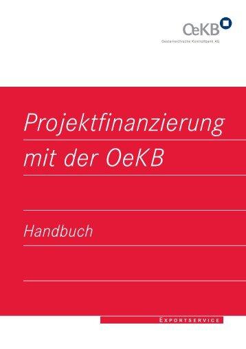 Handbuch - Projektfinanzierung mit der OeKB