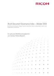 Ricoh Document Governance Index – Oktober 2009 (3554 KB)