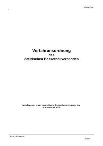 Verfahrensordnung - StBV