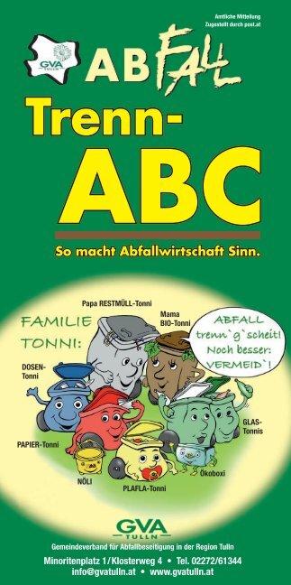 GVA-Folder 'Trenn-ABC'